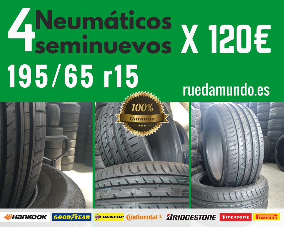 4 NEUMÁTICOS SEMINUEVOS 195 65 R15 x 120€