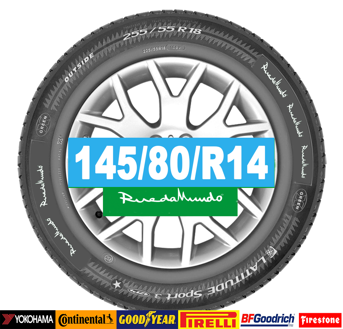 Neumático seminuevo 145/80/R14 – OFERTA