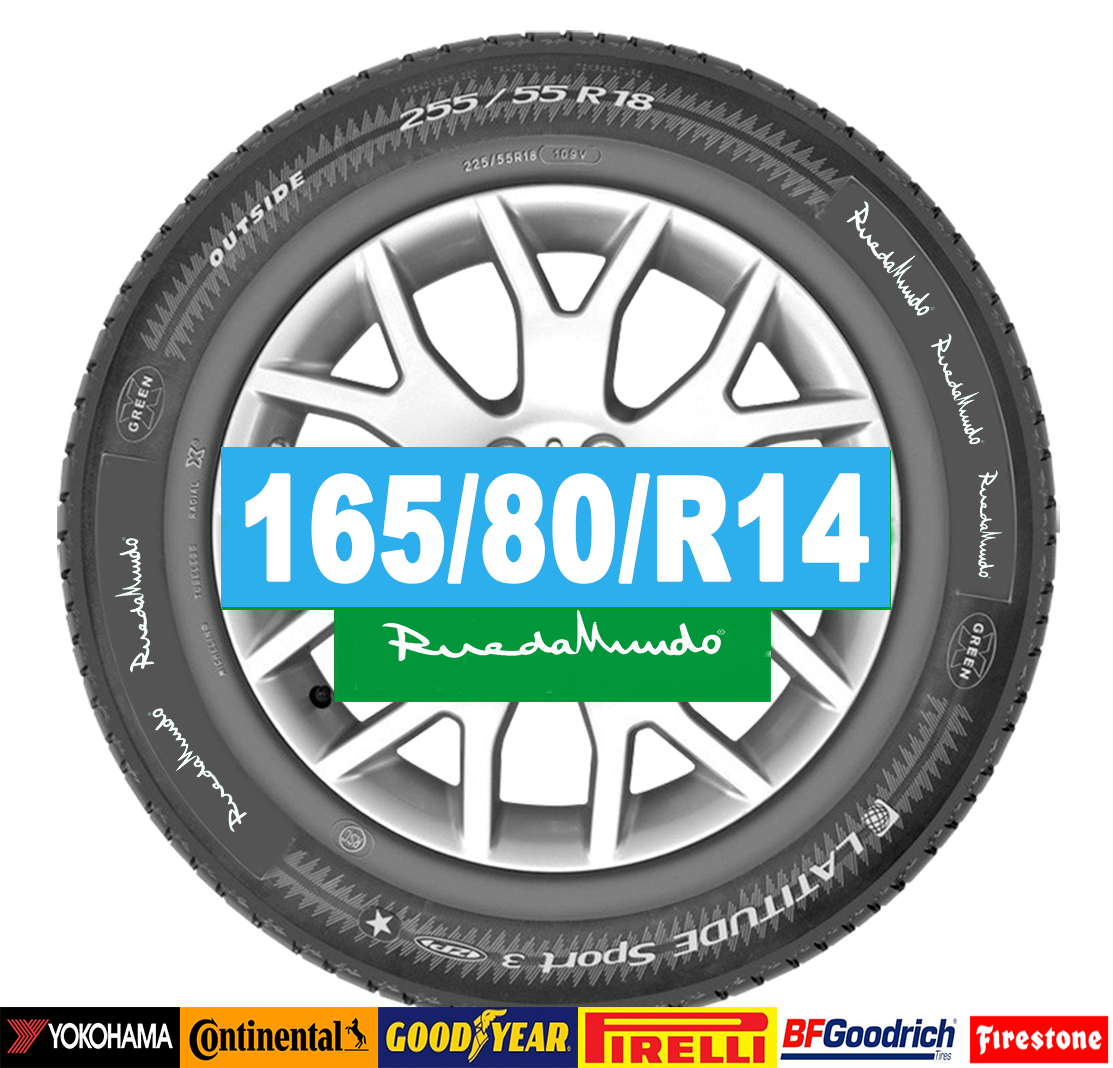 Neumático seminuevo 165/80/R14 – OFERTA