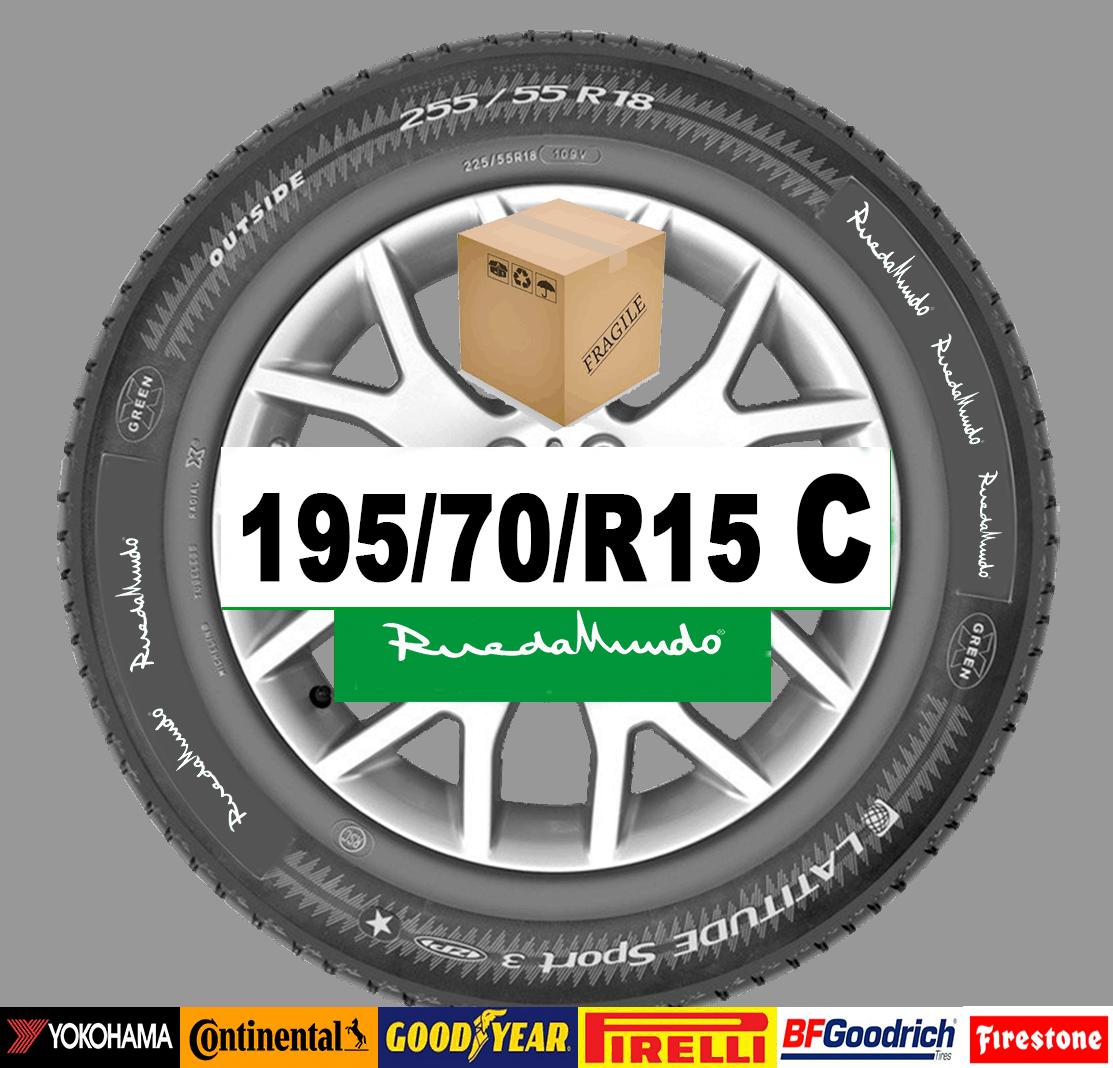Neumático seminuevo 195/70/R15 C  – OFERTA