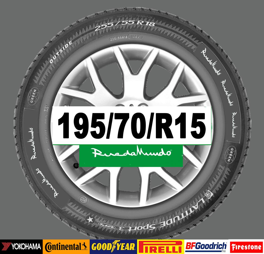 neumático seminuev 195 70 r13