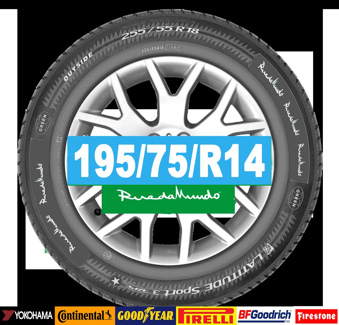 Neumático seminuevo 195/75/R14 – OFERTA
