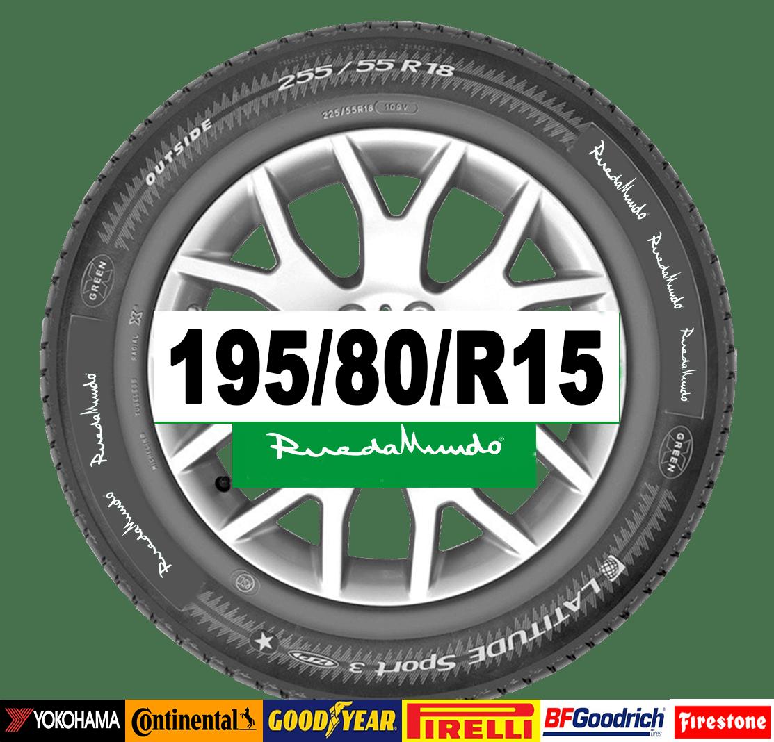 Neumático seminuevo 195/80/R15 – OFERTA