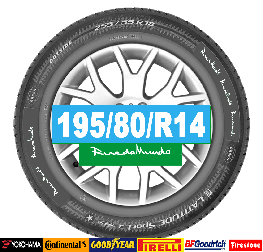 Neumático seminuevo 195/80/R14 – OFERTA