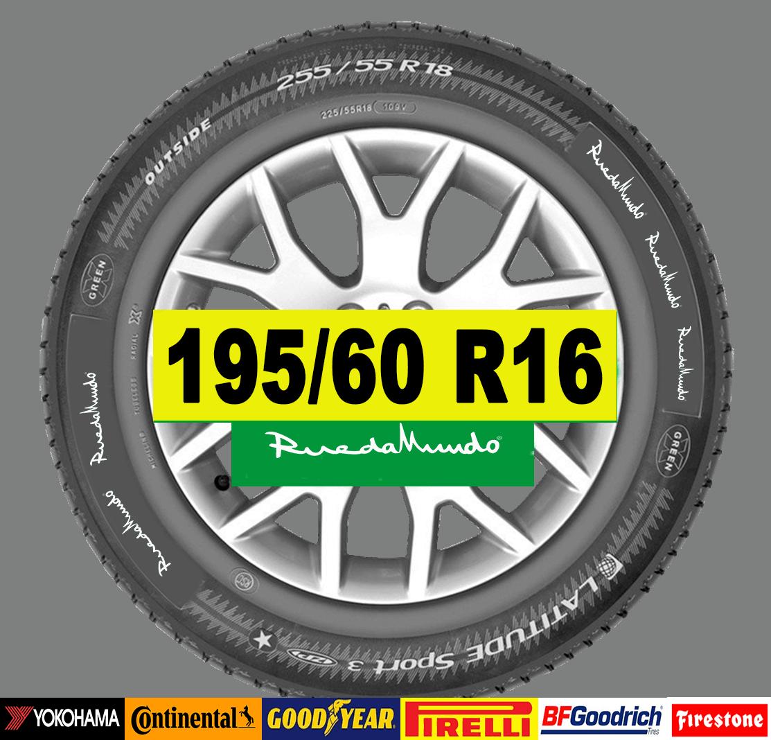 NEUMÁTICO SEMINUEVO 195/60 R16 – SEGUNDA MANO