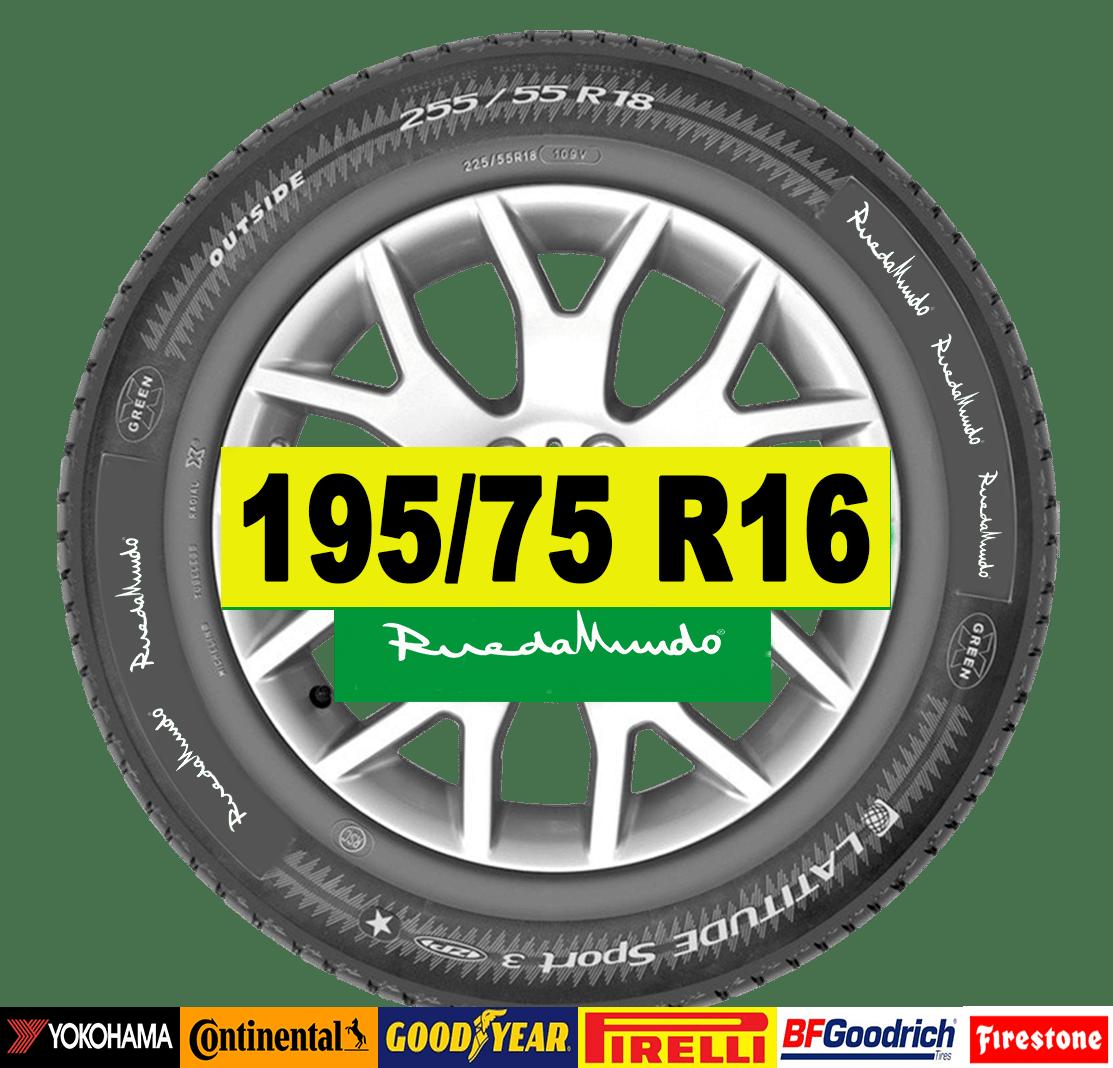 NEUMÁTICO SEMINUEVO 195/75 R16 – SEGUNDA MANO