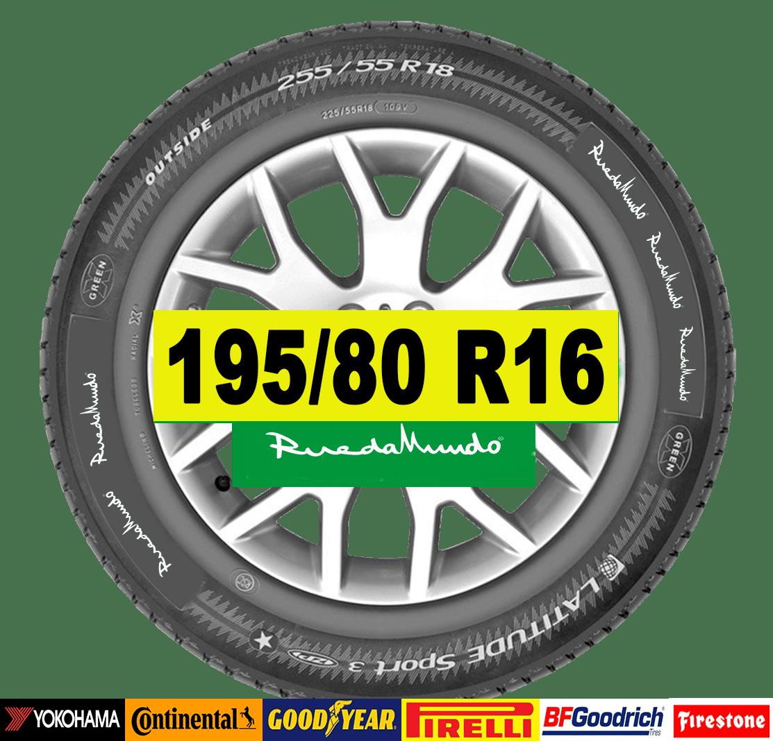 NEUMÁTICO SEMINUEVO 195/80 R16 – SEGUNDA MANO