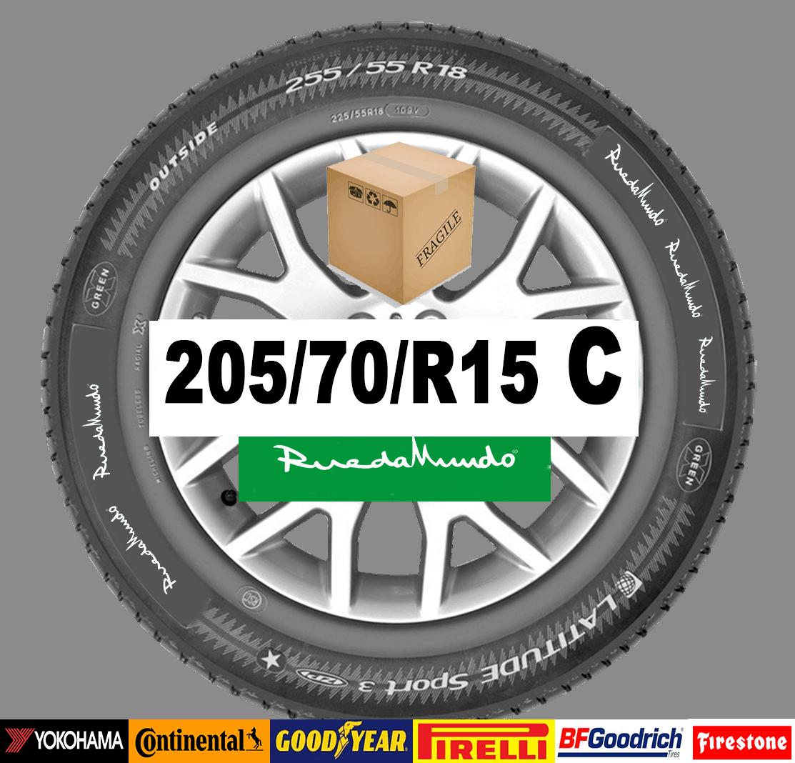 Neumático seminuevo 205/70/R15 C  – OFERTA