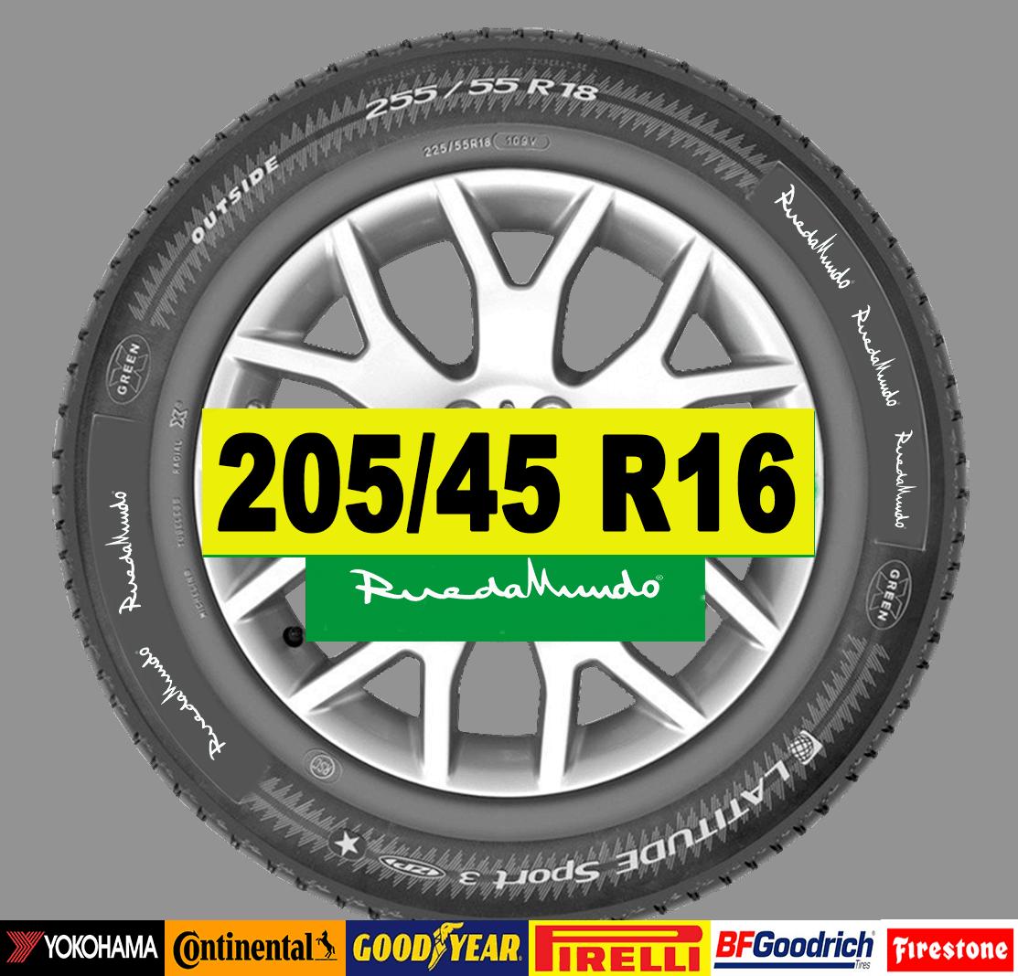 NEUMÁTICO SEMINUEVO 205/45 R16 – SEGUNDA MANO