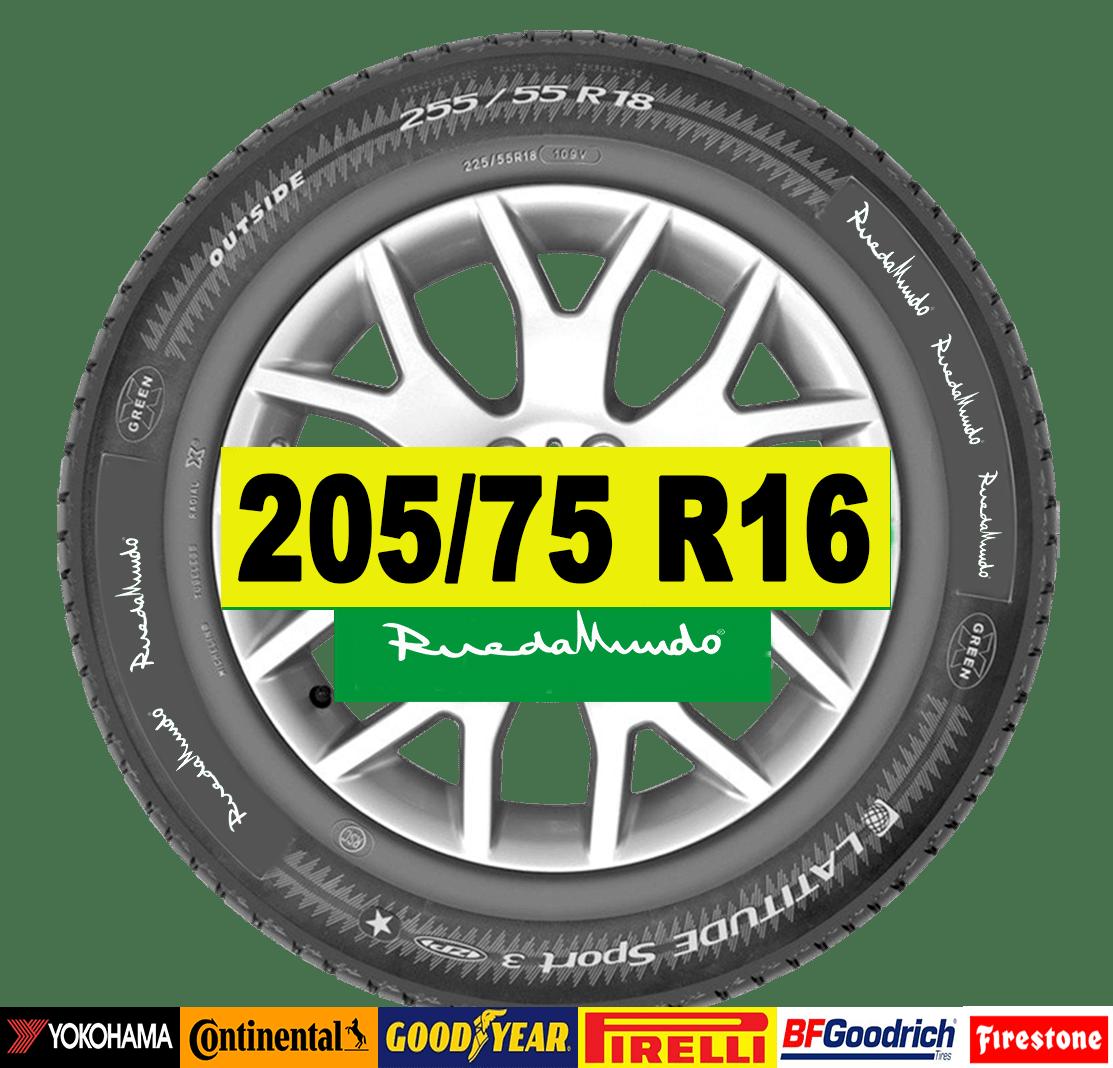 NEUMÁTICO SEMINUEVO 205/75 R16 – SEGUNDA MANO