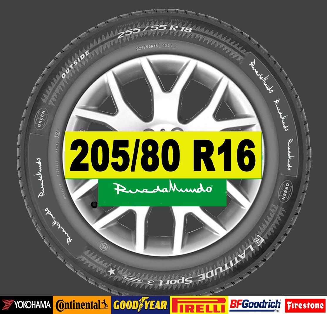 NEUMÁTICO SEMINUEVO 205/80 R16 – SEGUNDA MANO