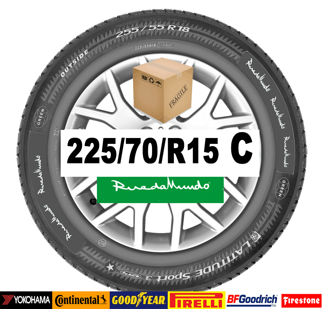 Neumático seminuevo 225/70/R15 C  – OFERTA
