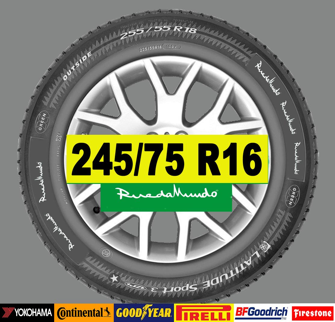 NEUMÁTICO SEMINUEVO 245/75 R16 – SEGUNDA MANO