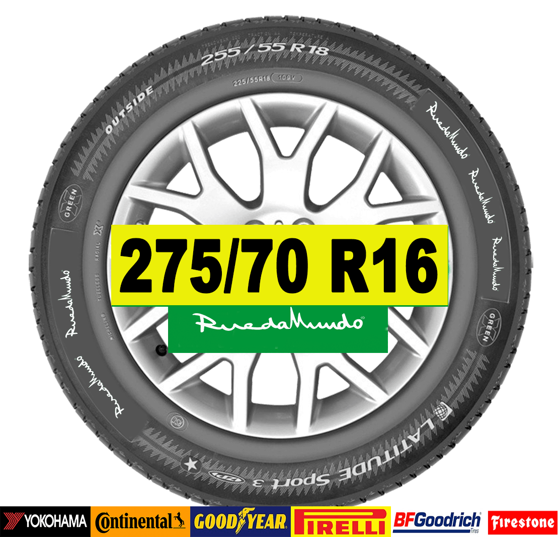 NEUMÁTICO SEMINUEVO 275/70 R16 – SEGUNDA MANO
